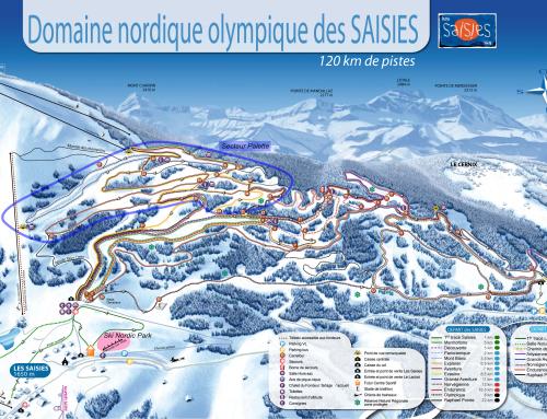 Skis aux pieds sur le domaine nordique